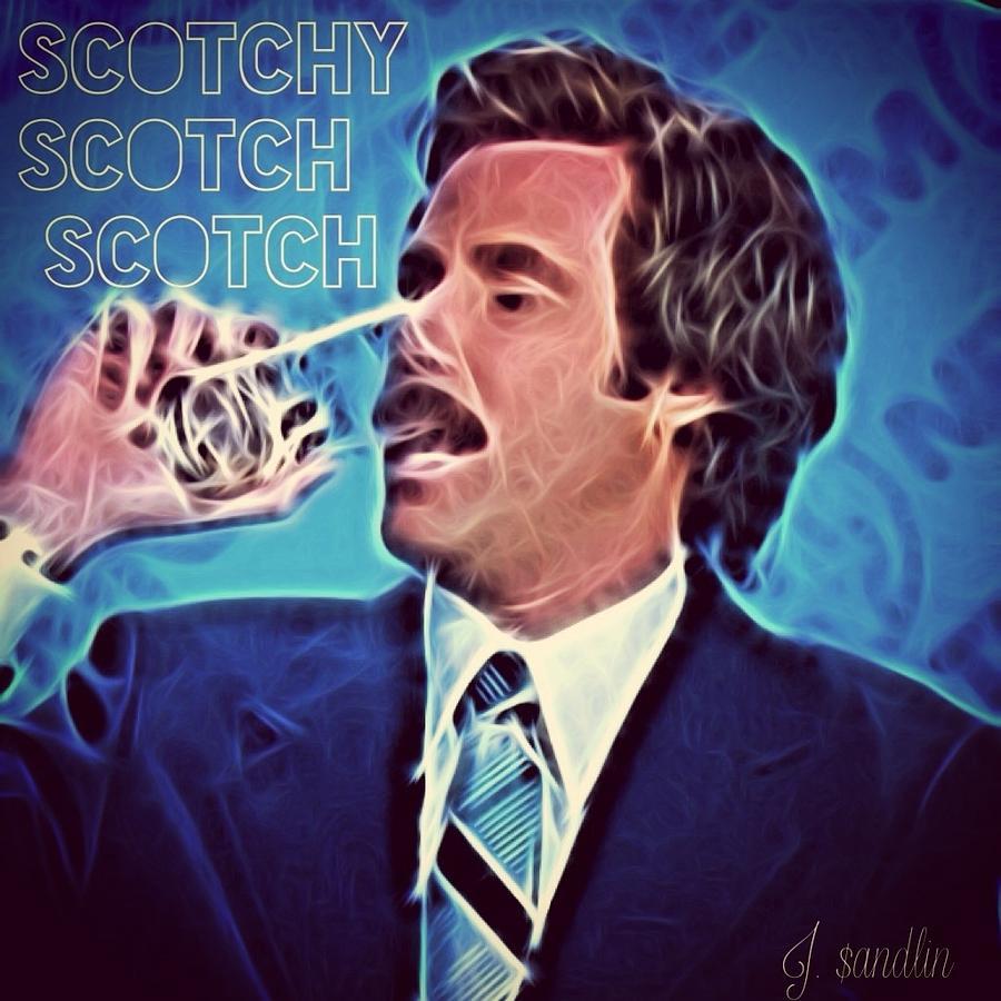 Will Ferrell Digital Art - Scotchy Scotch Scotch by J S