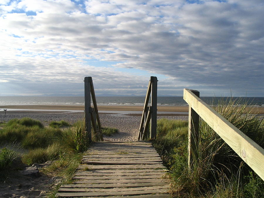 Scotland Photograph - Scotland Findhorn Boardwalk by Yvonne Ayoub