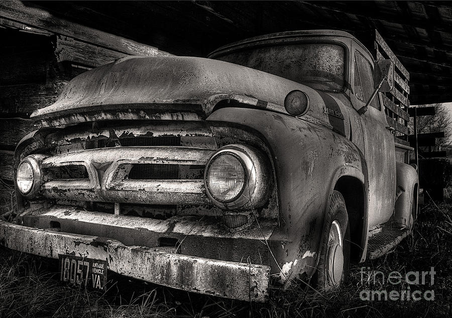 Scotopic Photograph - Scotopic Vision 6 - 53 Ford by Pete Hellmann