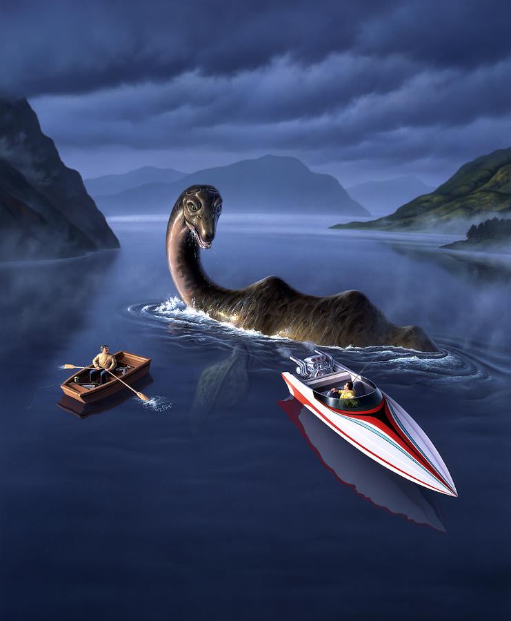 Loch Ness Monster Painting - Scottish Cuisine by Jerry LoFaro