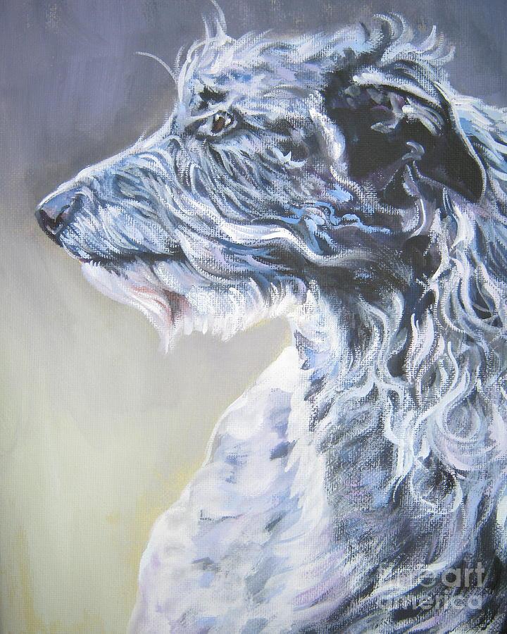 Scottish Deerhound Painting