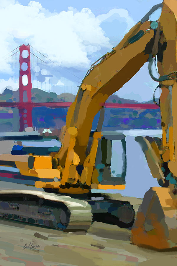 Bulldozers Painting - Scratcher by Brad Burns