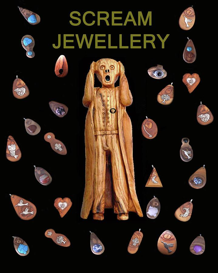 Scream Jewellery Mixed Media - Scream Jewellery by Eric Kempson