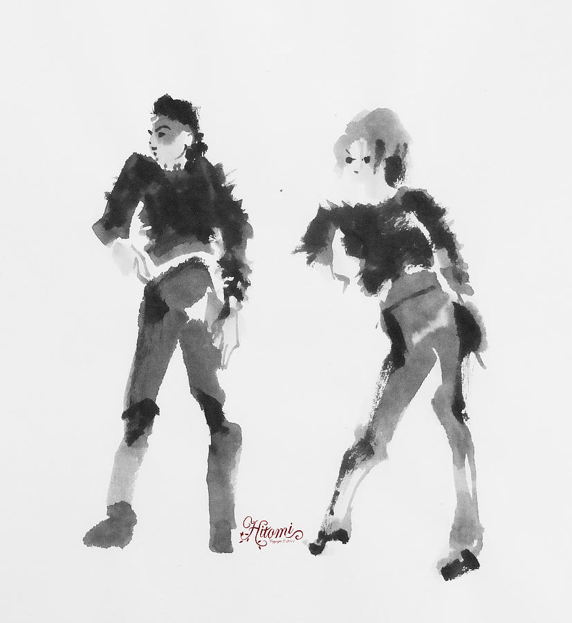 Michael Jackson Painting - Scream With Janet by Hitomi Osanai