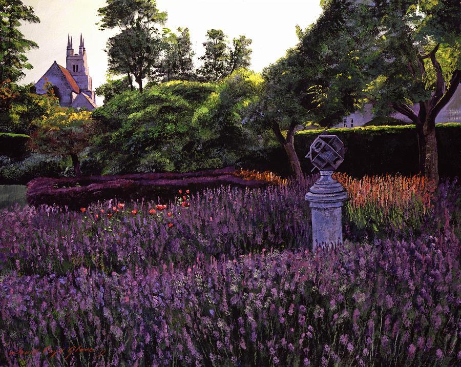 Gardens Painting - Sculpture Garden by David Lloyd Glover