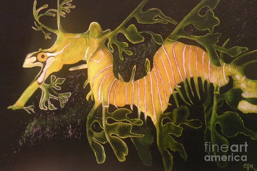 Sea Dragon Painting - Sea Dragon by Carol Northington