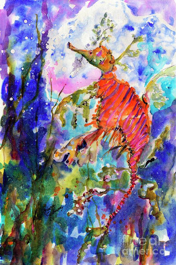 Seadragons Painting - Sea Dragon Wonderland by Ginette Callaway