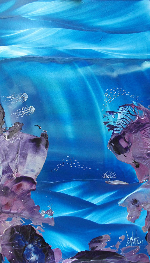 Underwater Painting - Sea Fan Reef by Danita Cole