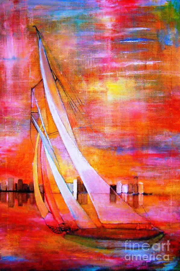 Sailing Ship Painting - Sea Joy by Patricia Velasquez de Mera