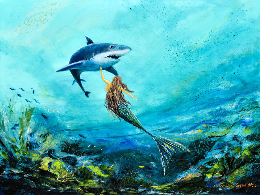 Sea life painting by gina de gorna for Sea life paintings artists
