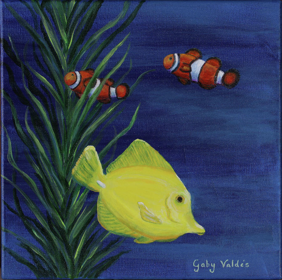 Sea life ii painting by gaby valdes for Sea life paintings artists
