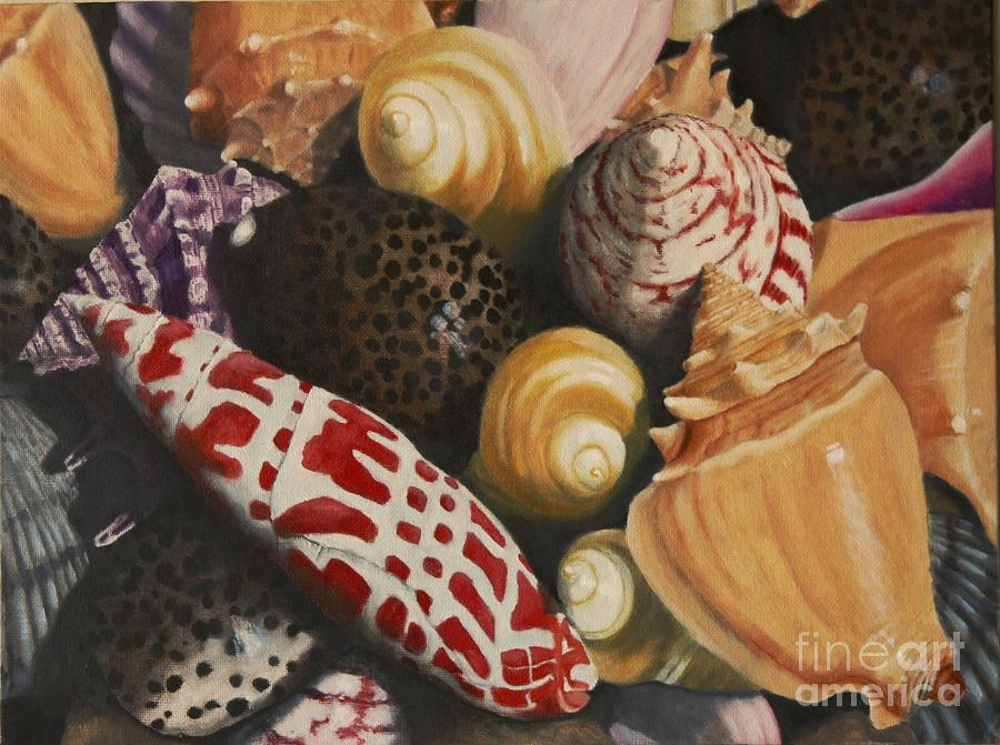 Seashells Painting - Sea Shells by Sid Ball