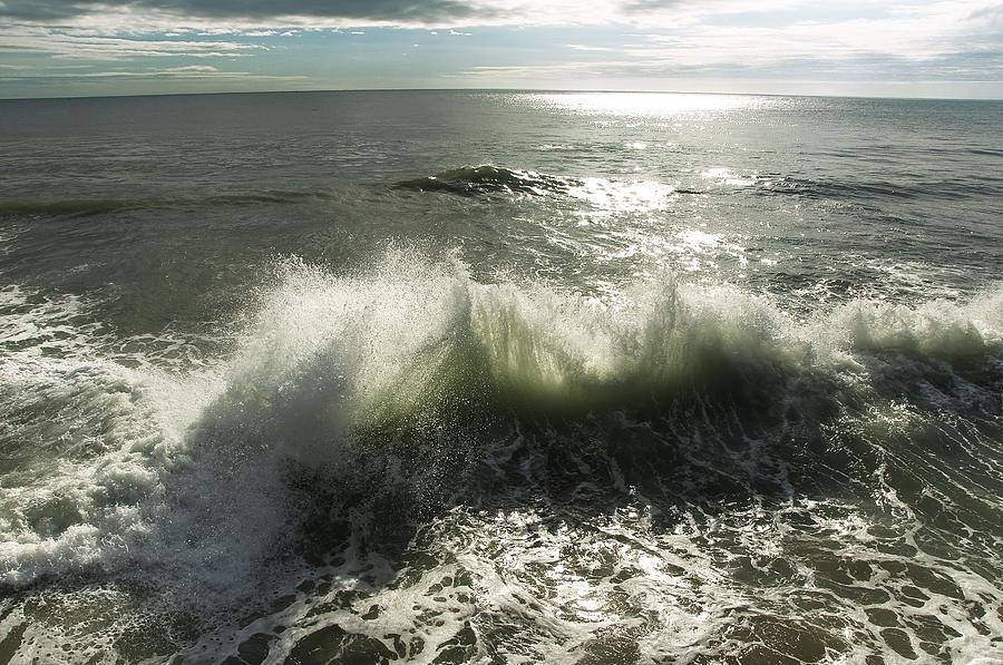 Aqua Photograph - Sea Waves3 by Svetlana Sewell