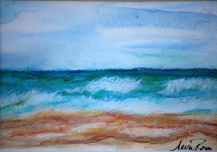 Watercoulour Painting - Seascape I by Neva Rossi