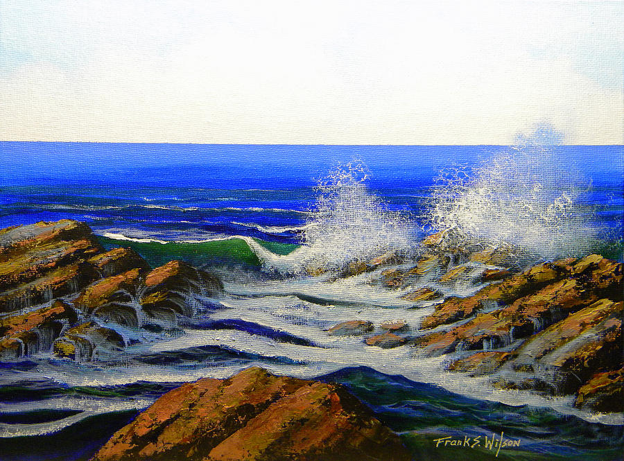 Seascape Painting - Seascape Study 4 by Frank Wilson