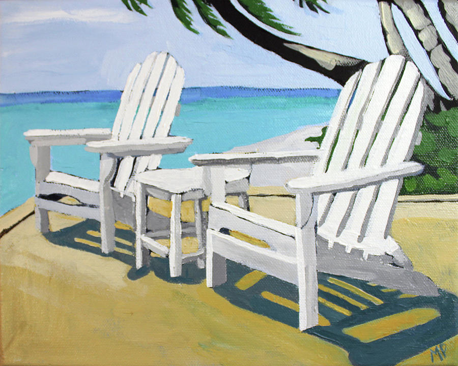 Seaside Chairs Painting