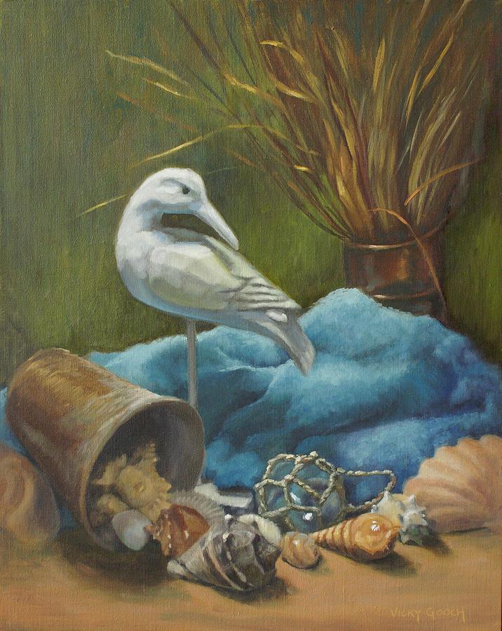 Stilllife Painting - Seaside Memories by Vicky Gooch