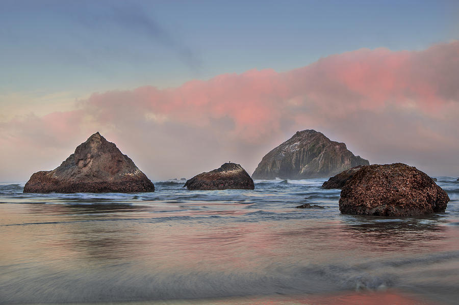 Beach Photograph - Seaside Reflections by Andrew Soundarajan