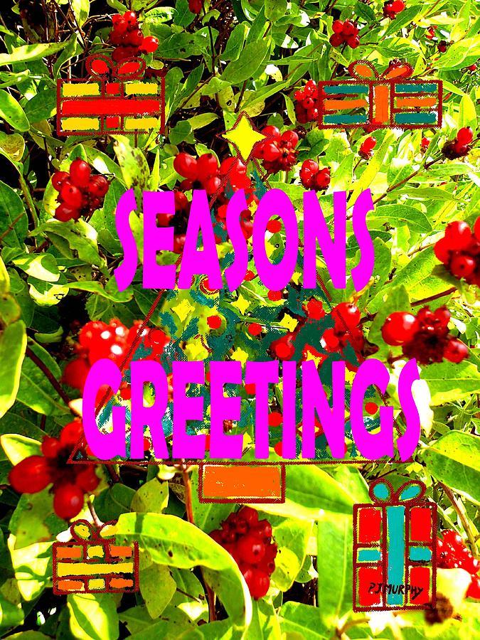 Christmas Painting - Seasons Greetings 10 by Patrick J Murphy