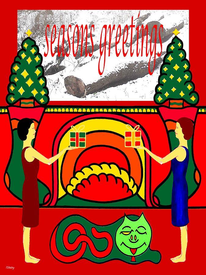 Christmas Painting - Seasons Greetings 18 by Patrick J Murphy