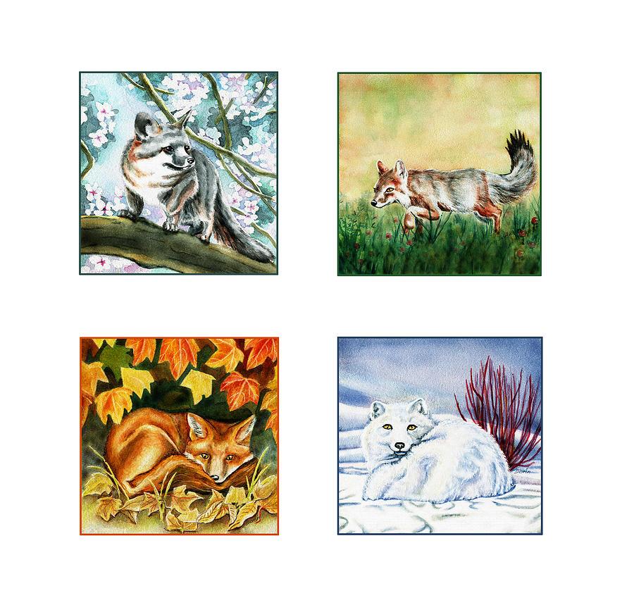 Seasons Of Fox Painting