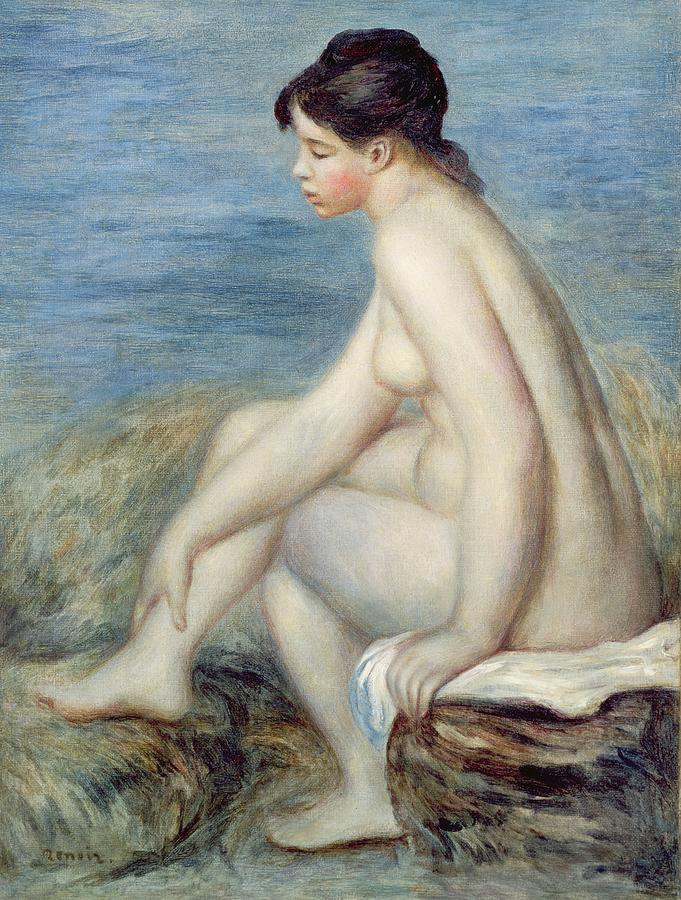 Seated Painting - Seated Bather by Renoir
