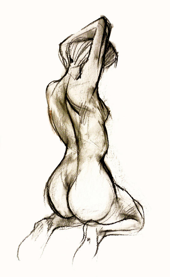 Nude Female Drawing 93