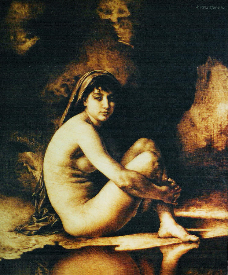 Dino Muradian Pyrography - Seated Nude by Dino Muradian