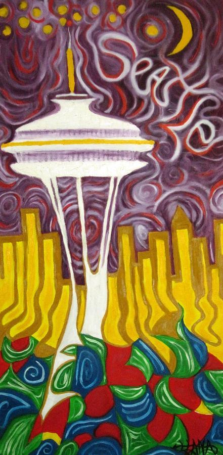 Seattle Painting - Seattle Love by Alfredo Dane Llana