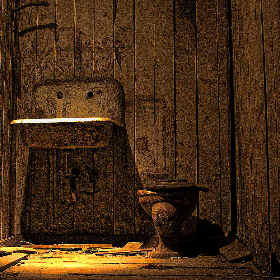 Seattle Underground Bathroom Photograph