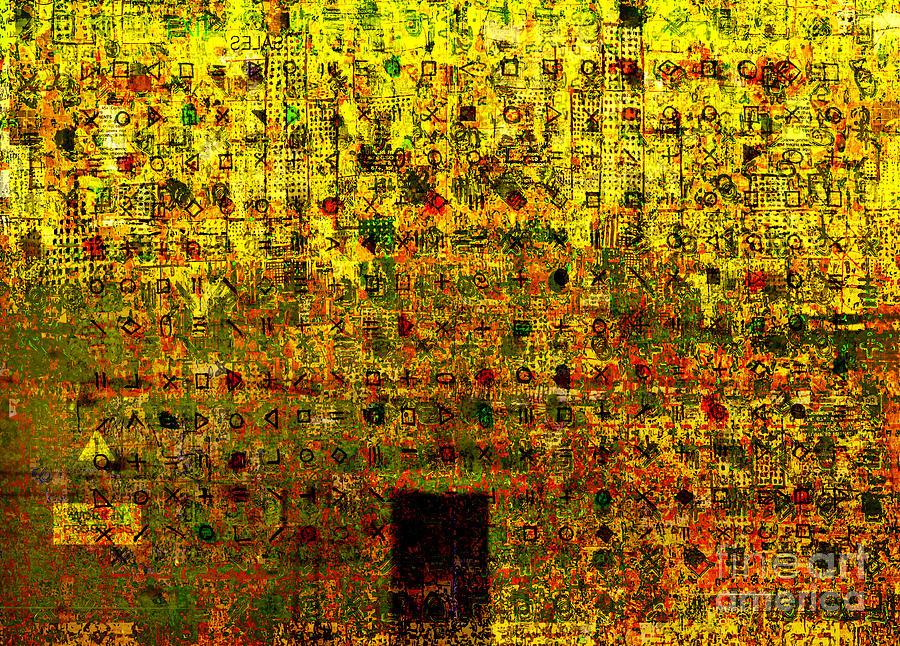 Digital Abstract Digital Art - Secret IIi by Andy  Mercer