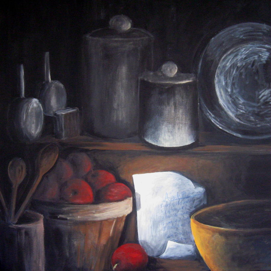 Apples Painting - Secret Recipe by Sharon Marcella Marston