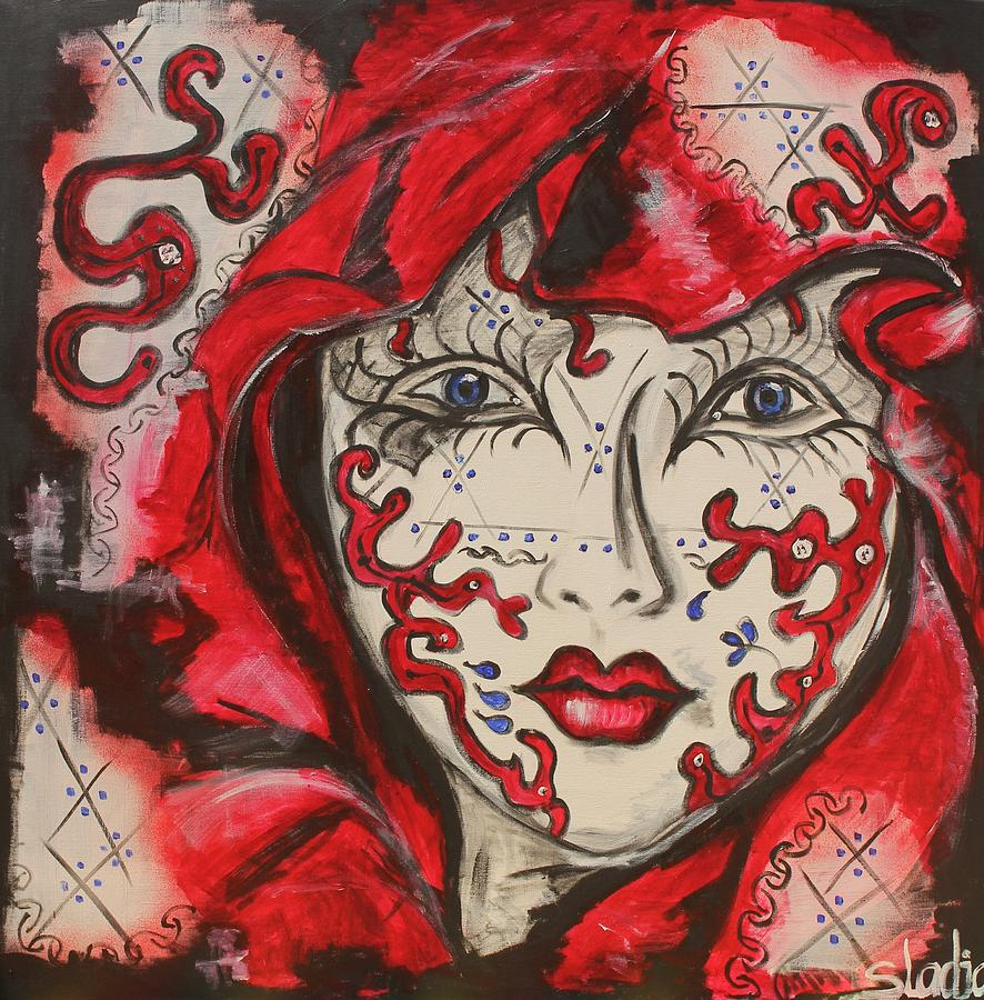 Women Painting - Secret by Sladjana Lazarevic