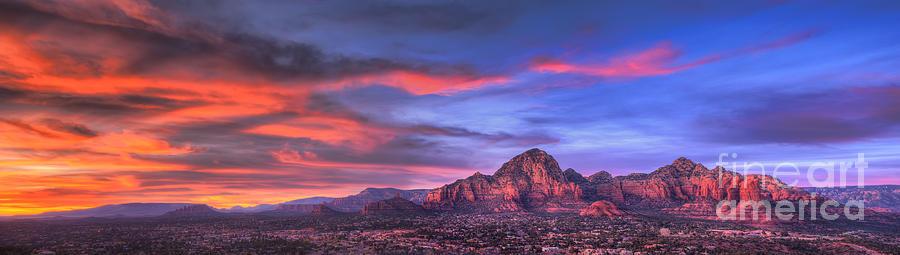 Sedona Photograph - Sedona Arizona At Sunset by Eddie Yerkish