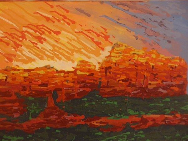 Sedona Painting - Sedona Fire by Samuel Freedman