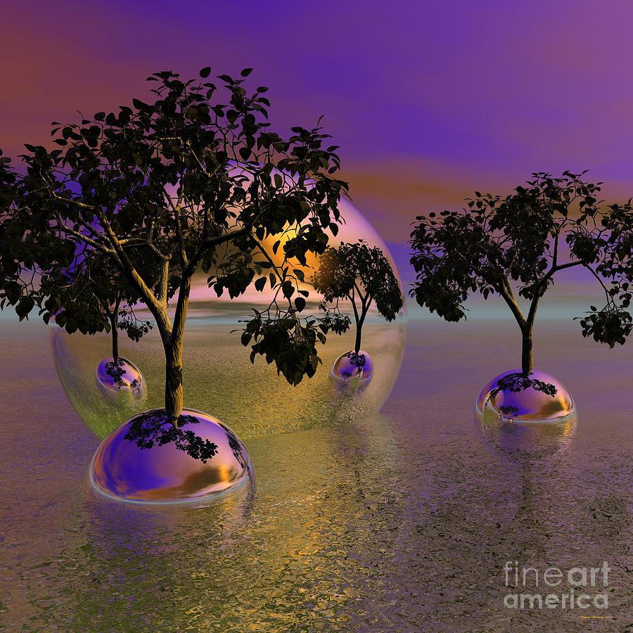 Gorgeous Sunrise Digital Art - Seeking Higher Ground by Wayne Bonney