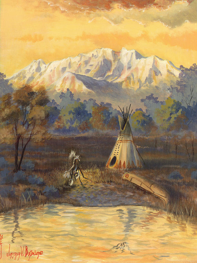 Ute Painting - Seeking The Divine by Jeff Brimley