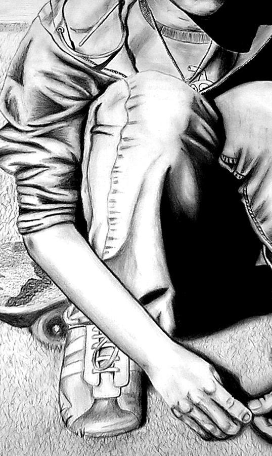 Self Drawing - Self Portrait by Jera Sky