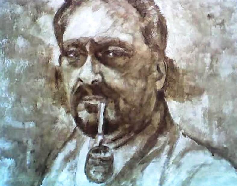Retrato Painting - Selfportrait 5 Years Ago Autoretraro by Fernando A Hernandez