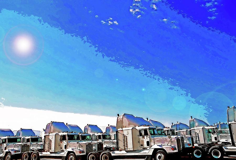Trucks Photograph - Semi Truckscape 1 by Steve Ohlsen