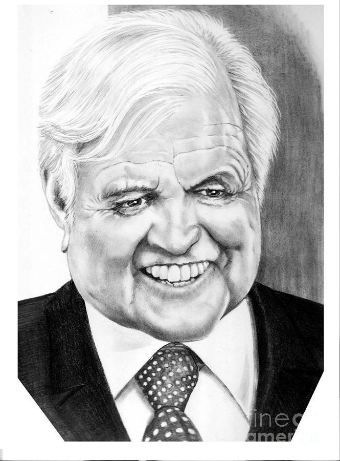 Senator Drawing - Senator Edward Kennedy by Murphy Elliott