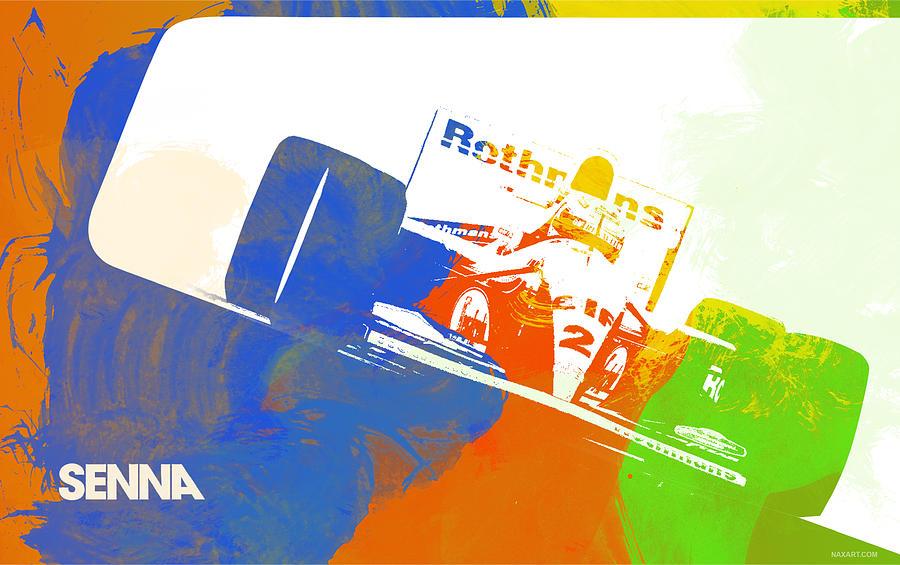 Digital Art - Senna by Naxart Studio