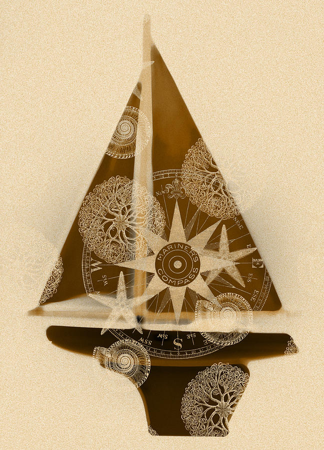 Sepia Boat Painting