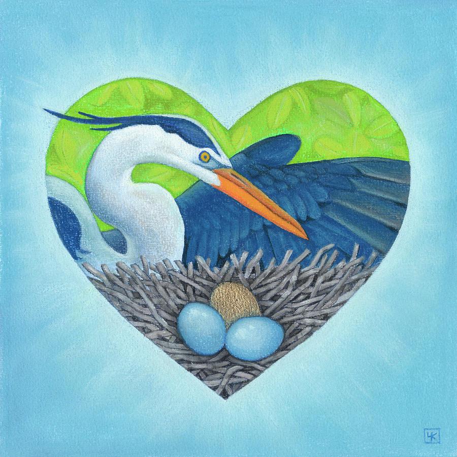 Heart Mixed Media - Serena by Lisa Kretchman