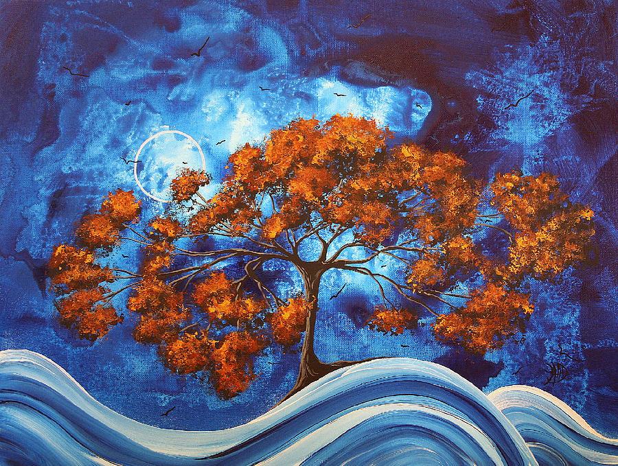 Abstract Painting - Serendipitous Original Madart Painting by Megan Duncanson