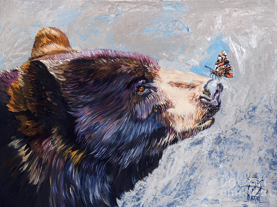 Bear Painting - Serendipity by J W Baker
