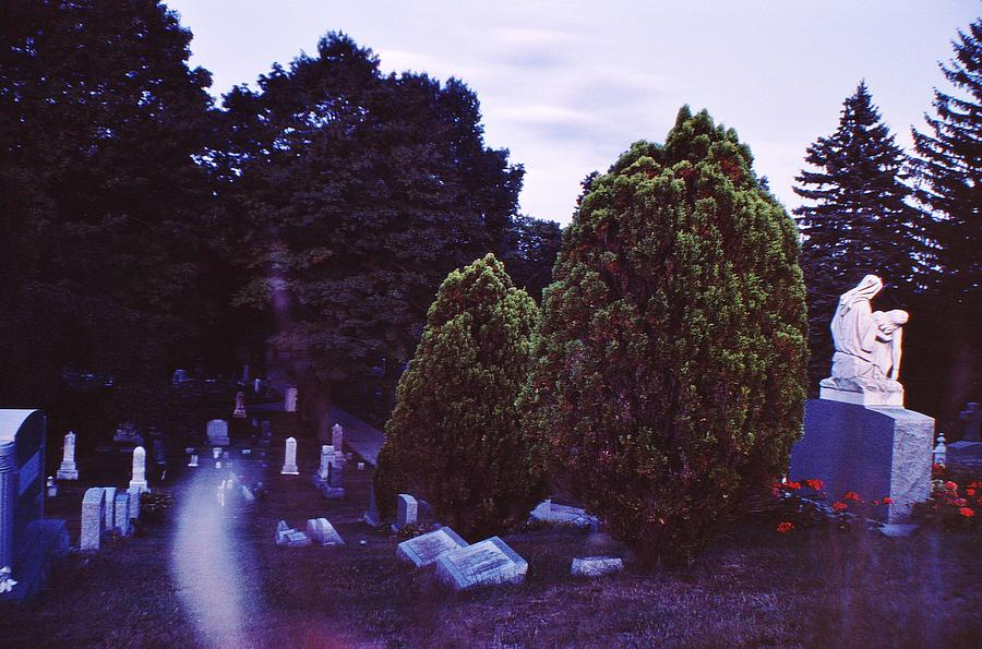 Cemetary Photograph - Serene Visitation by Don Youngclaus