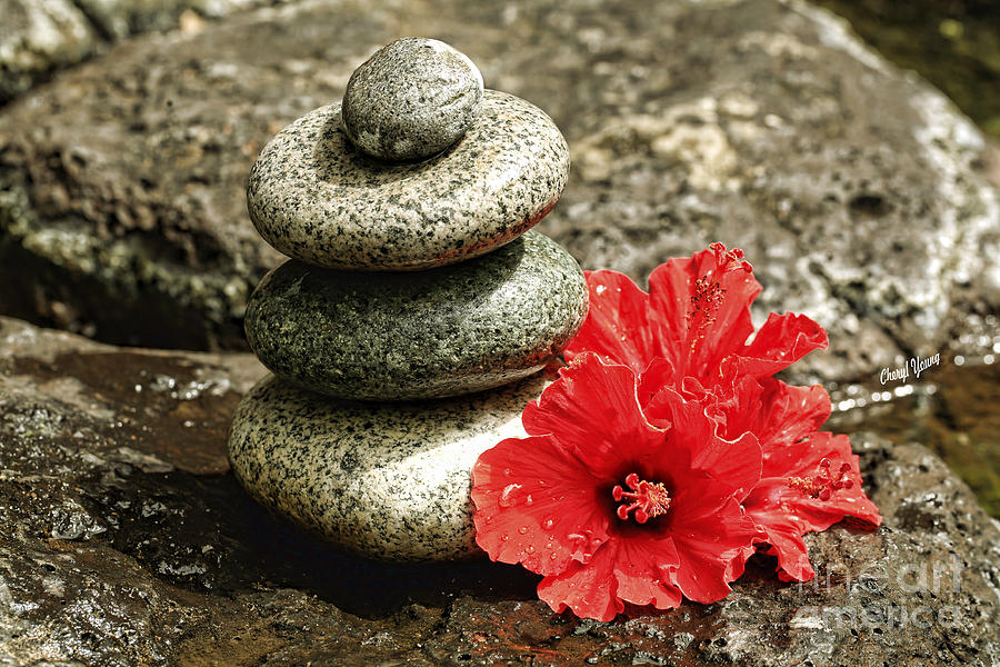 Conical Rock Piles Photograph - Serenity by Cheryl Young