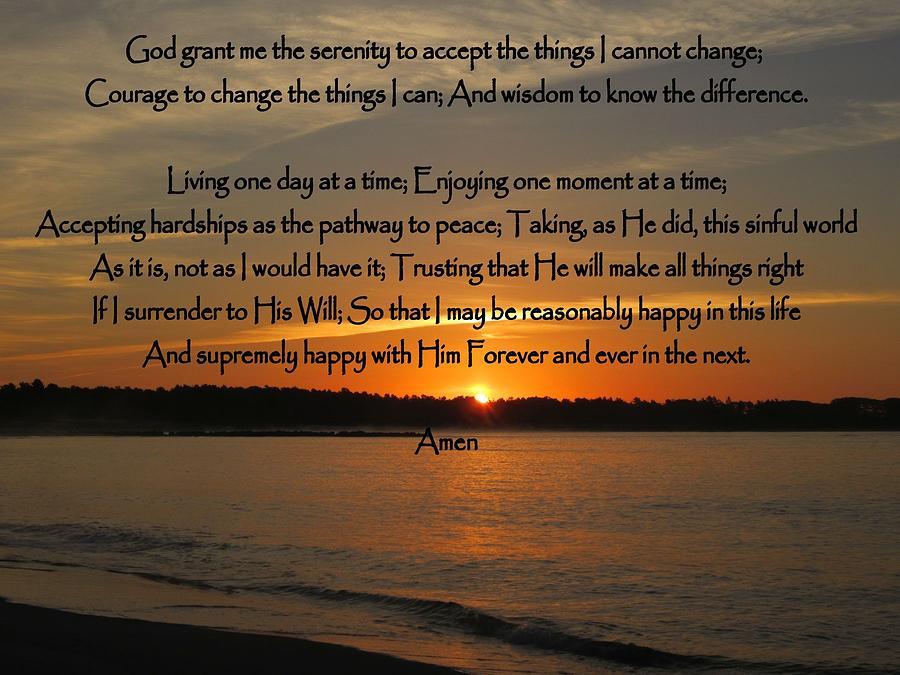 Serenity Prayer Full Version Photograph By Patricia Urato