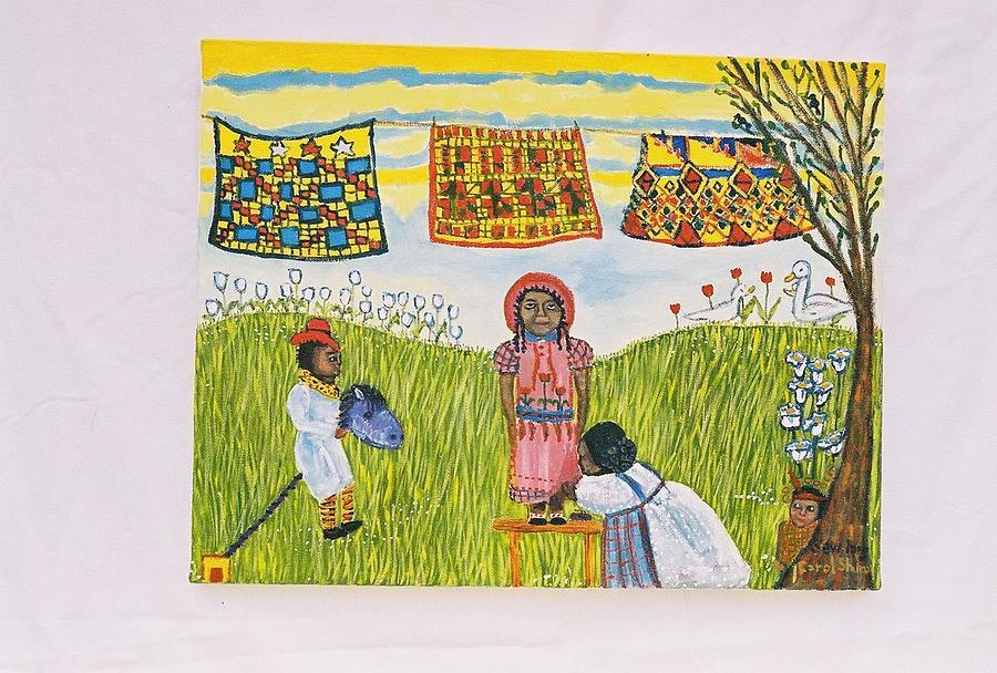 Quilts Painting - Sew Long by Carol Shumas